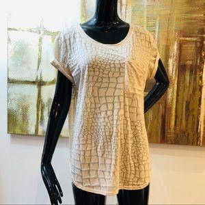 Rebecca Taylor Alligator-burnout T-shirt Medium